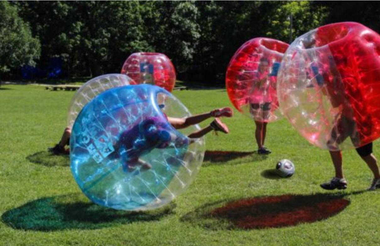 Chicago bubble soccer knockball knocker soccer party