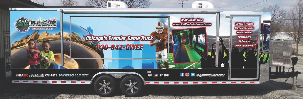 Video game truck in Chicago - game van, game bus for birthday parties
